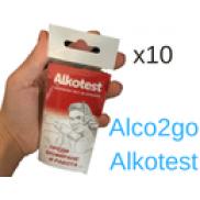 Еднократен Дрегер за алкохол Alkotest - пакет 10 броя