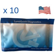 Полеви тест за 7 групи наркотици в човешка слюнка (AMP/COC/KET/MAMP/MDMA/OPI/THC), Произведен в САЩ - DOA-7 Saliva Panel Test Card - Пакет от 10 броя