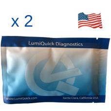 Полеви тест за 7 групи наркотици в човешка слюнка (AMP/COC/KET/MAMP/MDMA/OPI/THC), Произведен в САЩ - DOA-7 Saliva Panel Test Card - Пакет от 2 броя