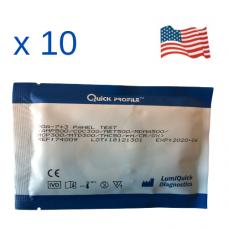 Комбиниран уринен тест за 7 групи наркотици с вградени 3 контроли срещу фалшификация, Произведен в САЩ – DOA-7+3 PANEL TEST CARD- Пакет от 10 броя