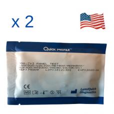 Комбиниран уринен тест за 7 групи наркотици с вградени 3 контроли срещу фалшификация, Произведен в САЩ – DOA-7+3 PANEL TEST CARD- Пакет от 2 броя