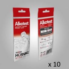 Еднократен Дрегер за алкохол Alkotest - пакет 10 броя еднократен високочувствителен сертифициран тест за алкохол